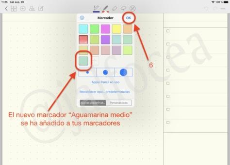 Cómo personalizar marcadores de GoodNotes con tus colores favoritos