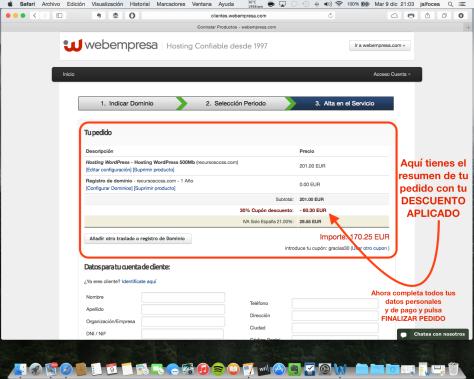 Contratación hosting Webempresa 6