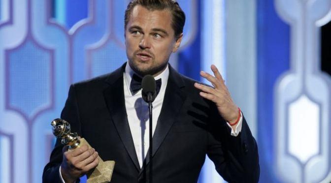 Leo DiCaprio defiende a los pueblos indígenas en los Globos de Oro
