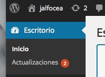 Actualiza WordPress