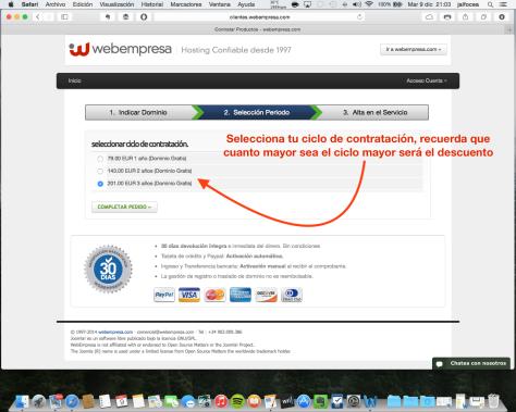 Contratación hosting Webempresa 4