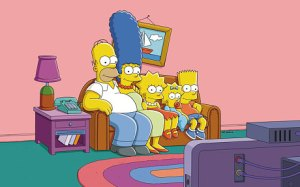 Escena del sofá en Los Simpsons