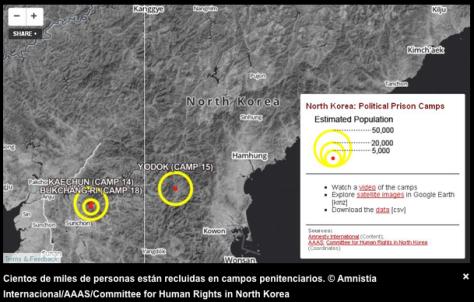 Campos de prisioneros políticos en Corea del Norte