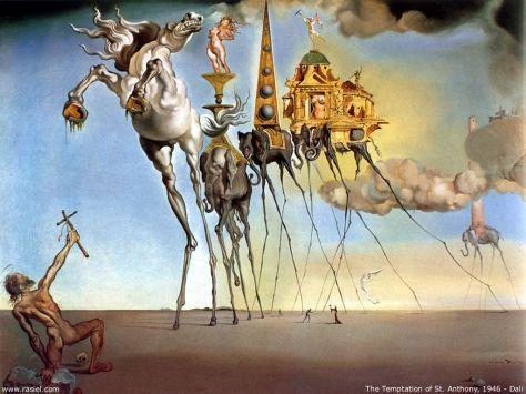 La tentación de San Antonio Salvador Dalí