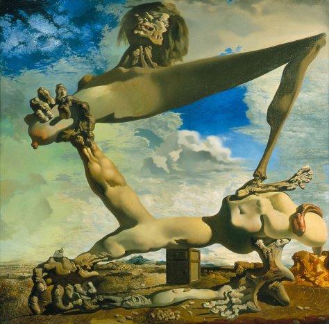 Construcción blanda con judías hervidas Salvador Dalí