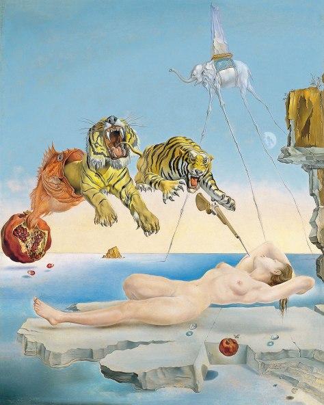 ueño causado por el vuelo de una abeja alrededor de una granada un segundo antes del despertar Salvador Dalí
