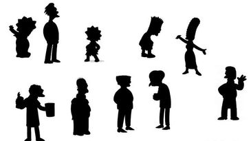 Siluetas distintivas de Los Simpsons