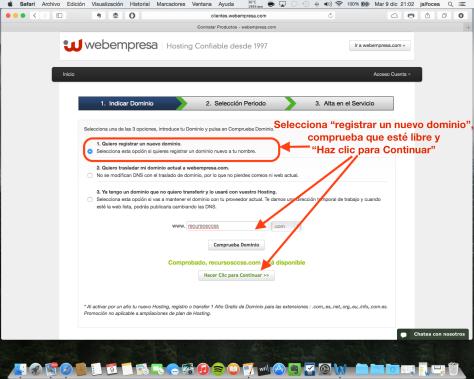 Contratación hosting Webempresa 3
