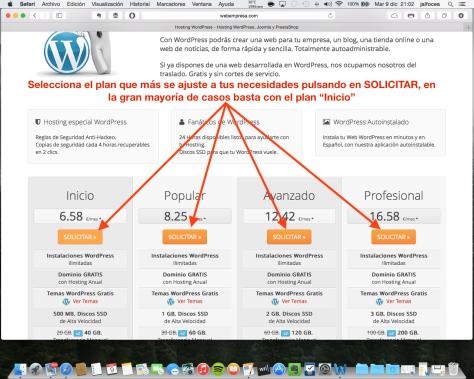 Contratación hosting Webempresa 2