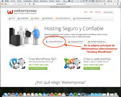 Contratación hosting Webempresa 1