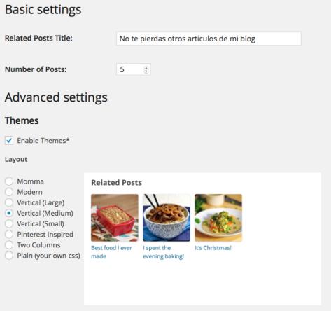 Plugin de artículos relacionados Related Posts by Zemanta | AJUSTES en WordPress