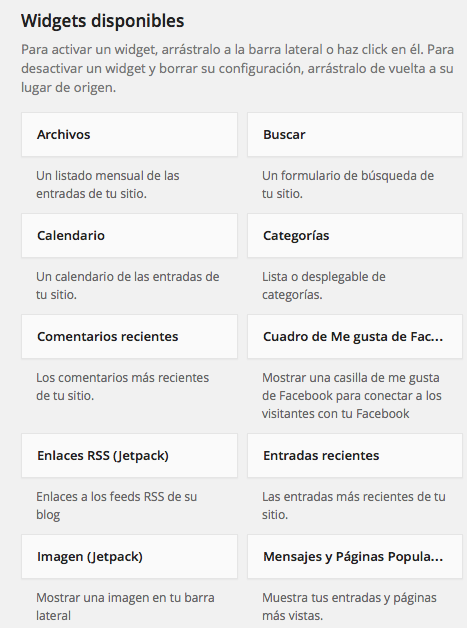 Widget WordPress 01