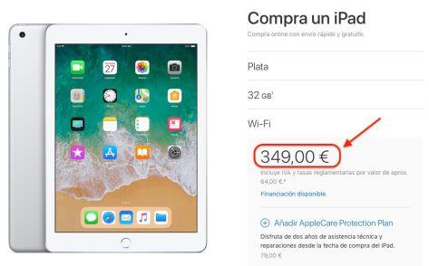 iPad de 2018 compatible con el Apple Pencil