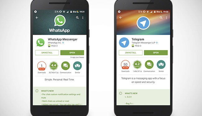 Brasil bloquea WhatsApp y Telegram aprovecha