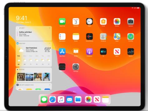 iPadOS: nueva disposición de aplicaciones y widgets