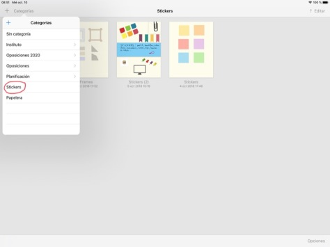 Cómo añadir y usar stickers en GoodNotes